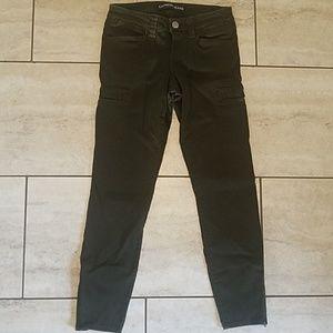 Express Jeans Size 0 dark hunter moto jean